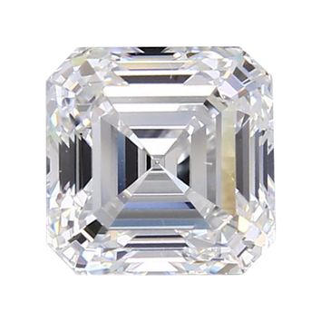 Intensely Radiant Asscher cut Diamond Veneer Loose stone