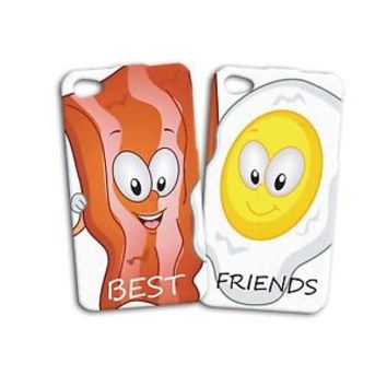 Funny Bacon Eggs Cute Best Friend Phone Case iPhone iPod White Cool Food Friends