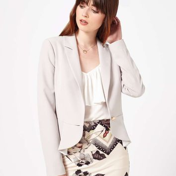 Mink Peplum Detail Jacket