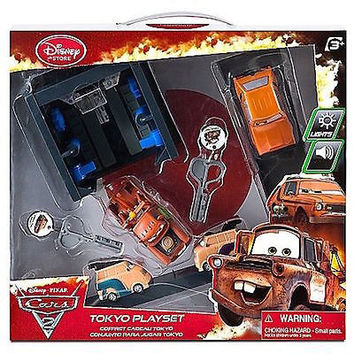 DISNEY CARS 2 KEY CHARGER TOKYO PLAY SET NEW IN THE BOX