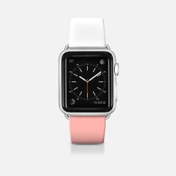 White and pink apple watch band Apple Watch Band (42mm)  by Yasmina Baggili | Casetify