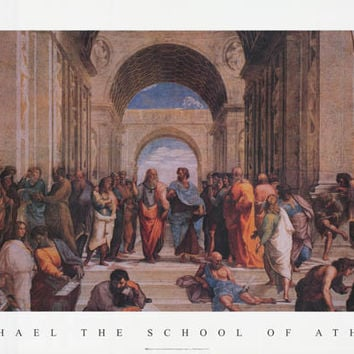 Raphael The School of Athens Poster 24x36