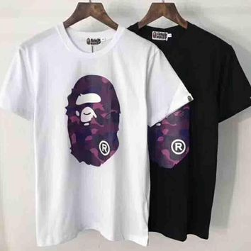 Bape Trending Fashion Casual Camouflage Print Logo Short Sleeve T-shirt G-ALG-CPFS-6