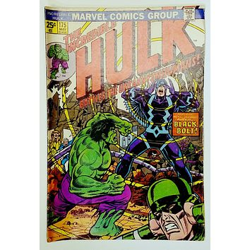 The Incredible Hulk #175 (Marvel 1974) Black Bolt Inhuman Royal Family. Romita