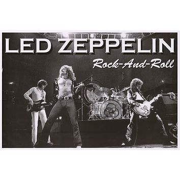 Led Zeppelin Rock and Roll Poster 24x36