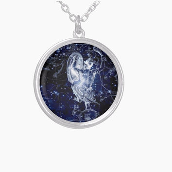 Orion Constellation Necklace Pendant Sterling Silver Plated