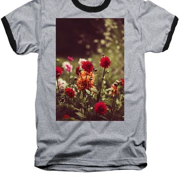 Watercolor Flowers - Baseball T-Shirt
