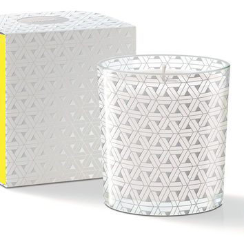 Yellow Triangle Candle, Lemon/Ginger, Filled Candles
