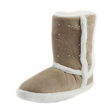 Gohom Womens Warm Winter Indoor Slipper Boots House