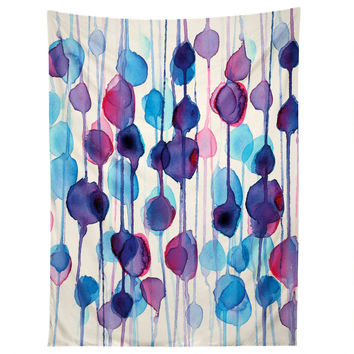 CMYKaren Abstract Watercolor Tapestry