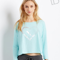 Aeropostale  LLD Long Sleeve Icon Boxy Crop Tee