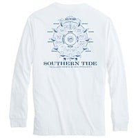 Points of Sail Long Sleeve T-Shirt in White by Southern Tide - FINAL SALE