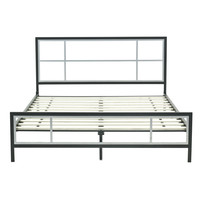 Full size Contemporary Platform Bed Frame with Headboard & Footboard