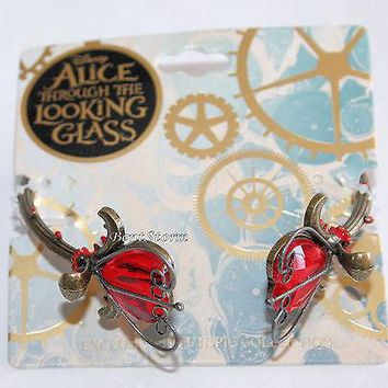 Licensed cool Disney Alice Through Looking Glass Wonderland Red Heart Thorn Metal Bracelet