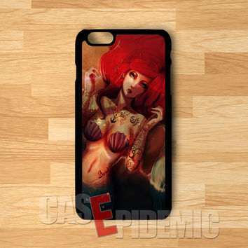 Sexy Ariel Mermaid Punk -tri for iPhone 6S case, iPhone 5s case, iPhone 6 case, iPhone 4S, Samsung S6 Edge