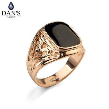 Dan's Element Luxury Brand Vintage Rings for men wedding Party New Fashion