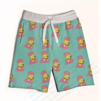 spbest Real USA size Bart Cam'ron 3D Sublimation Print Custom made Fifth & Seventh Shorts with String
