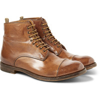 Officine Creative - Polished Lace-Up Leather Boots | MR PORTER