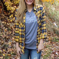 country girl at heart flannel top