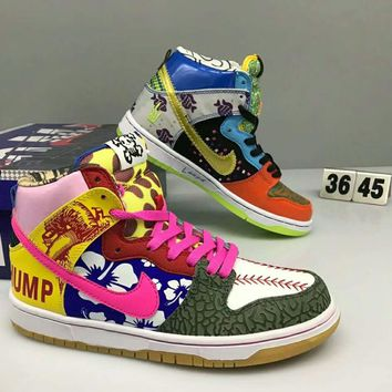 NIKE DLNK HIGH New fashion casual women and men colorful print high top shoes