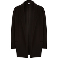 River Island Girls black textured jersey swagger jacket