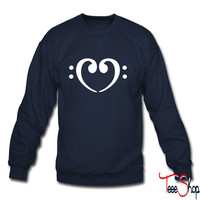 Bass Note heart sweatshirt