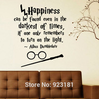 Harry Potter Happiness Can Be Found Even Hogwarts Wall Art Sticker Decal Home DIY Decoration Wall Mural Room Decor Wall Stickers