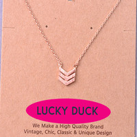 Copy of Dainty Rose Gold Arrow Necklace