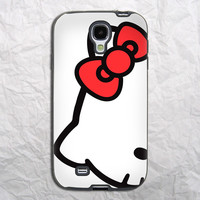 Hello Kitty Cute Red Bow Samsung Galaxy S4 Case