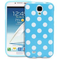 Galaxy S4 Case - Fosmon DURA Series SLIM-Fit Case Protective Skin Cover for Samsung Galaxy S4 IV / I9500 - Polka Dots (Blue)
