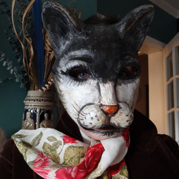 Halloween masks Paper mache papier mache Cat mask