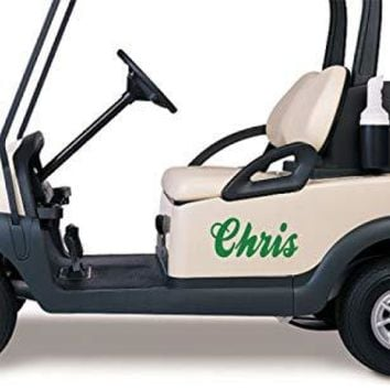 Personalized Your Name Golf Cart Go Kart Decals Stickers Auto Truck Racing Graphics