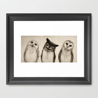 The Owl's 3 Framed Art Print by Isaiah K. Stephens