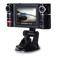 F30 HD Dual Lens Camera 2.7 inch Car DVR Camera Night Vision DVRs Windshield Driving G-sensor Video Recorder Rear View Dash Cam