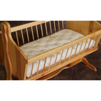 Bassinet Mattress, Twill Encased Wool Mattress