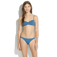 French-Seam Bikini Top in Droplet - swim tops -SHOP ALL- J.Crew