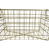 One Kings Lane - Gold Metal Basket