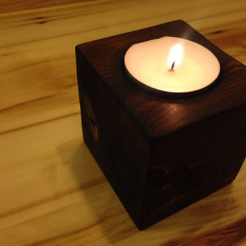Rustic Candle Holder, Small Candle Holder, Tea Light