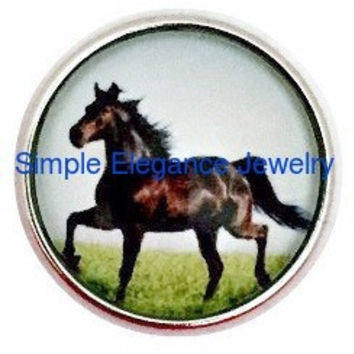 Black Horse Snap 20mm for Snap Jewelry