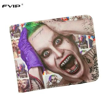 FVIP DC Comics Wallet Movies Suicide Squad The Joker Harley Quinn Enchantress And Bat Man Short Wallets With Card Holder Purse