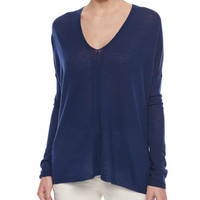 Vince Lightweight Knit V-Neck Top