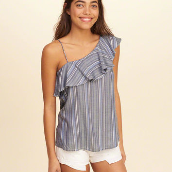 Girls Asymmetrical Ruffle Tank | Girls Tops | HollisterCo.com