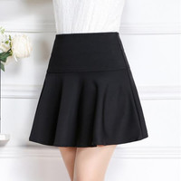 High Waist A Line Pleated Skirt B0014273