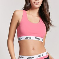 Barbie Graphic Logo Crop Top