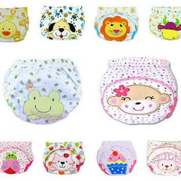 5pcs Lot 2017 NEW ! Baby Diapers Children Reusable Underwear Breathable Diaper Cover Cotton Training Pants Can Tracked