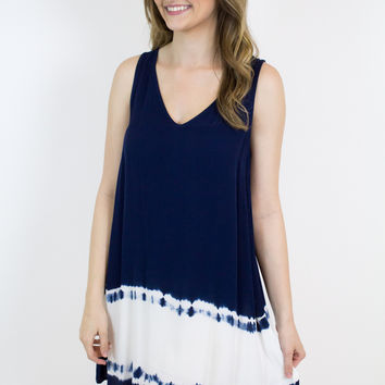 Navy Dip Dye Dress - BB Dakota