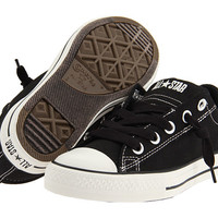 Converse Kids Chuck Taylor® All Star® Street Ox (Little Kid/Big Kid) Black/Lily White - Zappos.com Free Shipping BOTH Ways