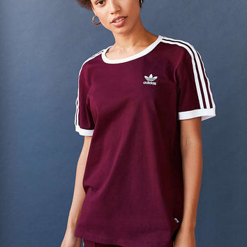 f8a21b93 adidas Originals Adicolor 3-Stripe Ringer Tee - Urban Outfitters