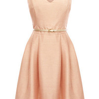 Oasis Shop | Mid Pink Metallic Skater Dress | Womens Fashion Clothing | Oasis Stores UK