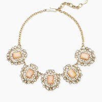 Crystal and Stone Statement Necklace